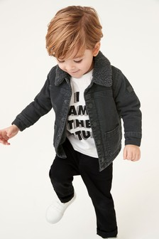 Borg Lined Denim Jacket (3mths-7yrs)