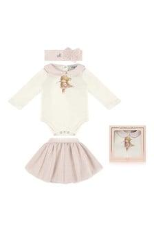 Baby Girls Bodysuit & Tulle Skirt Set