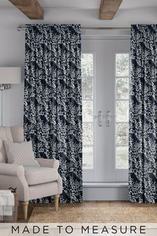 Albion Navy Blue Made To Measure Curtains