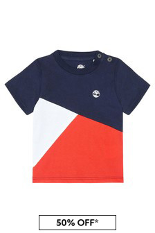Timberland® Baby Boys Navy Cotton T-Shirt