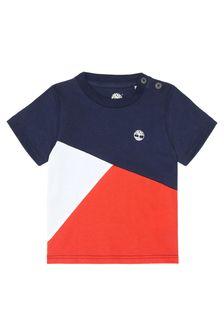 Timberland Baby Boys Navy Cotton T-Shirt