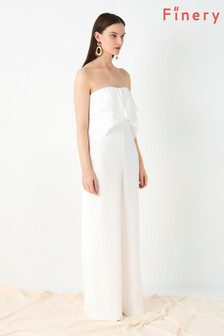 Finery London White Acacia Sleeveless Jumpsuit