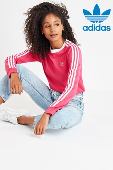 adidas Originals 3 Stripe Long Sleeved T-Shirt