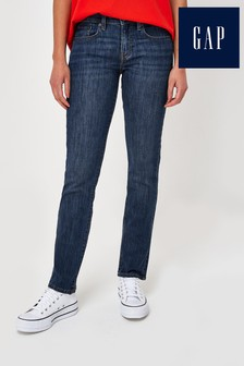 Gap Dark Indigo Wash Straight Leg Jeans