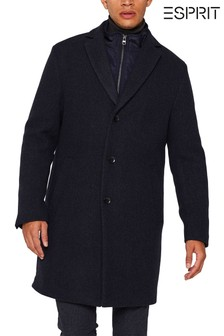 Esprit Blue 2-In-1 Blazer Coat With Removable Insert