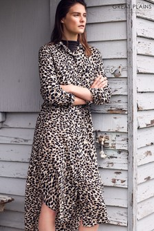 Great Plains Leopard Cara Shirt Dress