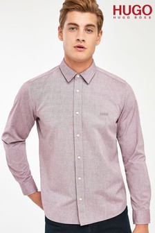 HUGO Evart Oxford Logo Shirt