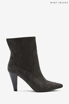 Mint Velvet Ezra Grey Suede Ankle Boots