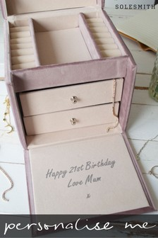 Personalised Hidden Message Jewellery Box by Solesmith