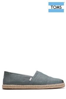 TOMS Grey Linen Espadrilles