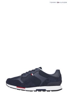 Tommy Hilfiger Blue Retro Mix Runner Trainers