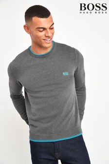 BOSS Grey Rimex Crew Jumper