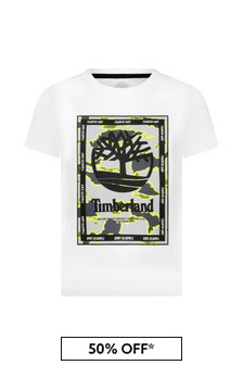 Timberland White Cotton T-Shirt