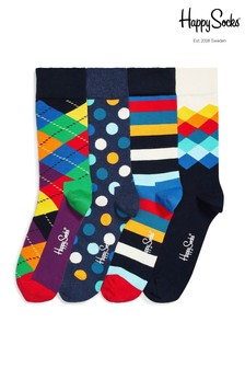 Happy Socks® Bright Pattern Four Pack Gift Box