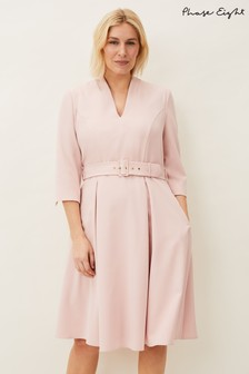 Phase Eight Pink Margot Belted Dress