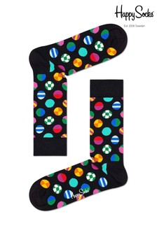 Happy Socks Black Clashing Dot Print Socks