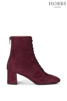 Hobbs Red Imogen Lace-Up Boots