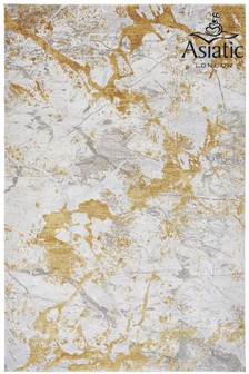 Asiatic Rugs Ochre Astral Textured Abstract Rug