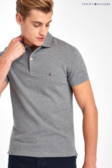 Tommy Hilfiger Grey Structured Slim Polo