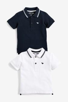 2 Pack Short Sleeve Poloshirts (3mths-7yrs)