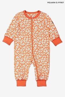 Polarn O. Pyret Orange Organic Cotton Ditsy Floral Pyjamas