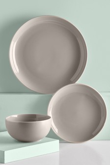 12 Piece Kempton Dinner Set & Buy tableware Dinnerware Natural from the Next UK online shop