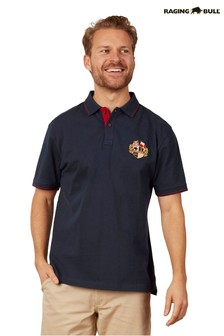 Raging Bull Blue Crest Pique Polo Top