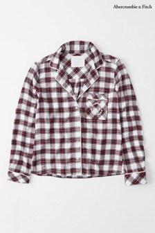 Abercrombie & Fitch Cream Plaid Pyjama Shirt