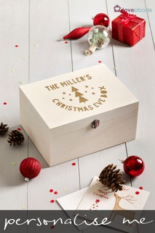 Personalised Christmas Tree Family Christmas Eve Box by Loveabode