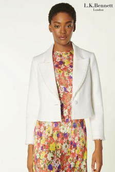 L.K.Bennett Cream Ellen Jacket