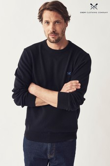 Crew Clothing Company Black Foxley Crew Neck Jumper