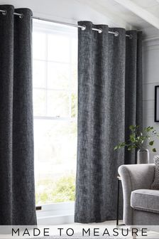 Bouclé Grey Made To Measure Curtains