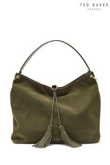 Ted Baker Khaki Demmi Hobo Tassel Bag