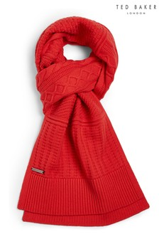 Ted Baker Red Varscaf Multi Stitch Scarf