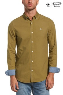 Original Penguin® Green Slim Fit Cotton Oxford Shirt