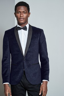 Paisley Printed Velvet Dinner Jacket