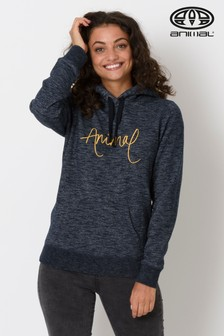 Animal Kapuzensweatshirt mit Grafik, himmelblau-meliert