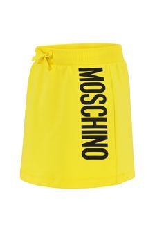 Girls Yellow Cotton Skirt