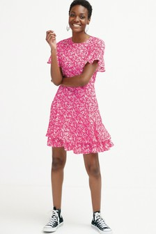Short Sleeve Flippy Dress