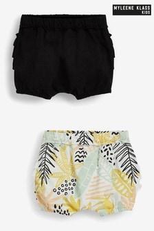 Myleene Klass Baby 2 Pack Ruffle Shorts