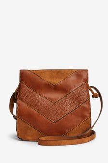 Spliced Texture Mix Drawstring Bag