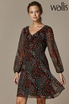 Wallis Petite Patchwork Ditsy Fit & Flare Dress