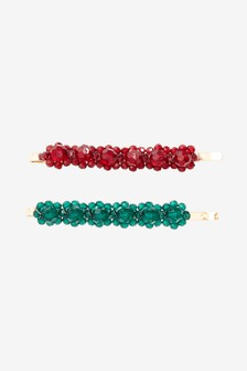 Beaded Hair Clips Two Pack