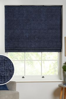 Navy Blue Heavyweight Chenille Lined Blind