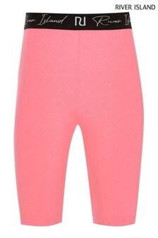 River Island Pink Bright Cycling Shorts