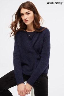 White Stuff - Lucie - Cardigan a portafoglio blu