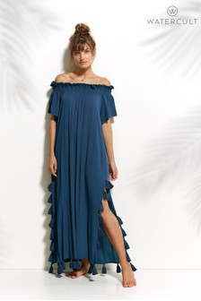 Watercult Off The Shoulder Tassel Dress