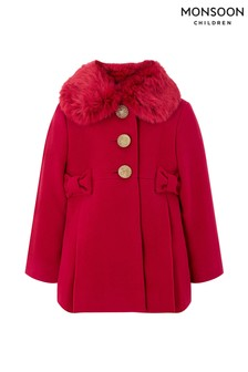 Monsoon Children Red Baby Bonnie Coat