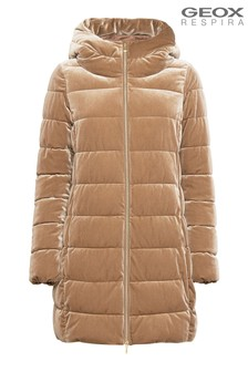 Geox Women's Felyxa Camel Long Jacket