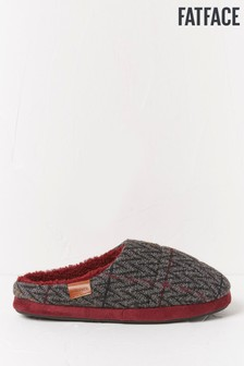 FatFace Grey Andrew Pattern Mules